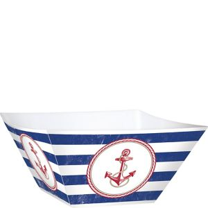 Striped Nautical Snack Bowls 3ct