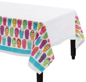 Bright Flip Flop Table Covers 3ct