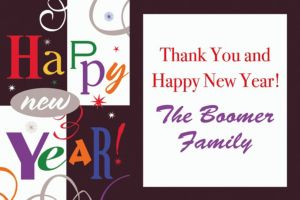 Custom Festive New Year Thank You Note