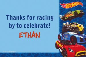 Custom Hot Wheels Wild Racer Thank You Note