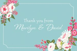 Custom Pretty Little Blossoms Thank You Note