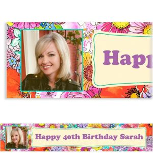 Custom Spring Garden Border Photo Banner