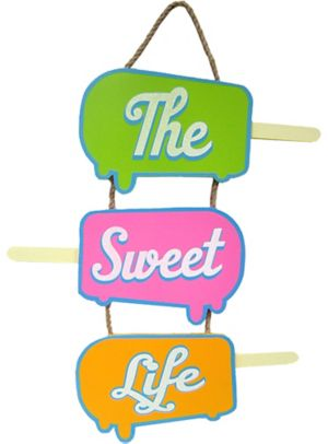Glitter Stacked Ice Pops Sign