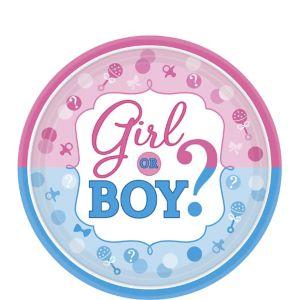 Girl or Boy Gender Reveal Dessert Plates 8ct