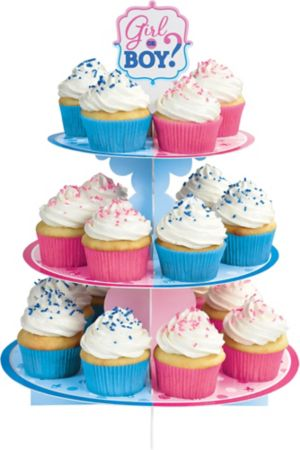 Girl or Boy Gender Reveal Cupcake Stand