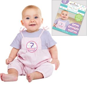 Girl Baby Month Stickers 12ct