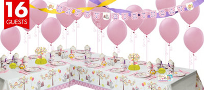 Girls Happi Woodland Party Supplies Deluxe Party Kit