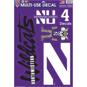 Northwestern Wildcats Decals 5ct