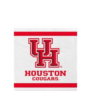 Houston Cougars Beverage Napkins 24ct