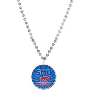 SMU Mustangs Pendant Bead Necklace