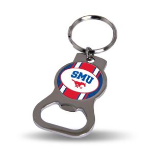 SMU Mustangs Bottle Opener Keychain