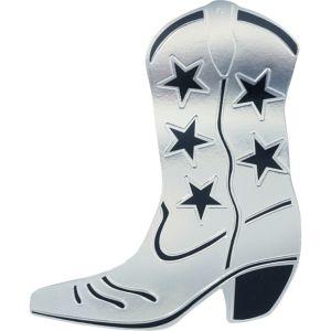 Silver Cowboy Boot Cutout