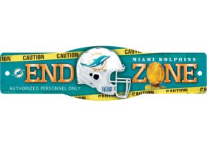 Miami Dolphins End Zone Sign