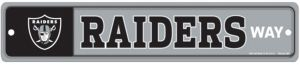 Oakland Raiders End Zone Sign