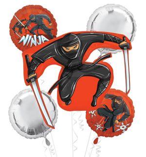 Ninja Balloon Bouquet 5pc