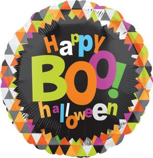 Halloween Balloon - Boo Geometric