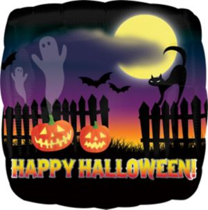 Halloween Balloon - Haunted Scene