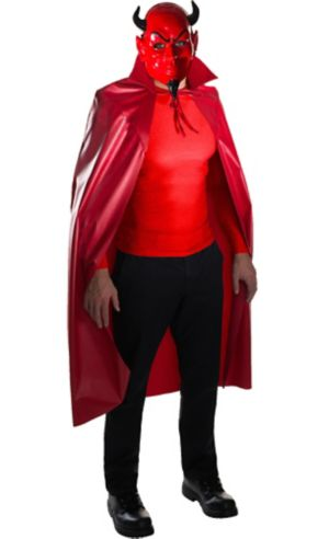 Red Devil Mask & Cape Set - Scream Queens