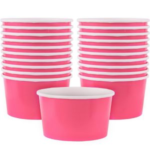 Bright Pink Paper Treat Cups 20ct