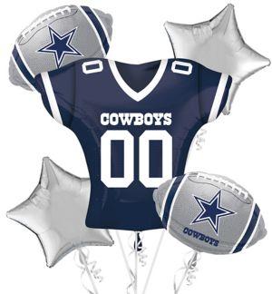 Dallas Cowboys Jersey Balloon Bouquet 5pc