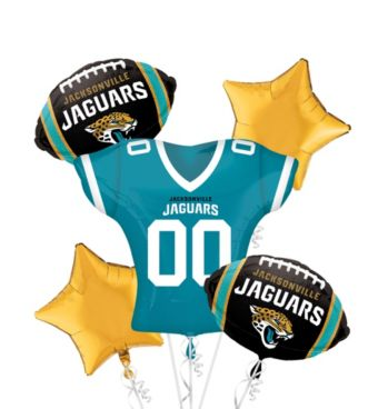 Jacksonville Jaguars Jersey Balloon Bouquet 5pc