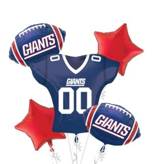 New York Giants Jersey Balloon Bouquet 5pc
