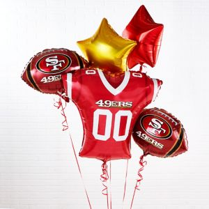 San Francisco 49ers Jersey Balloon Bouquet 5pc