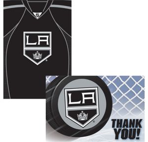 Los Angeles Kings Invitations & Thank You Notes For 8