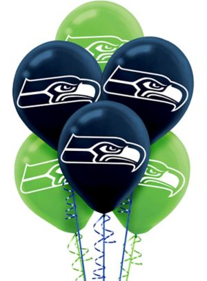 Seattle Seahawks Balloons 6ct