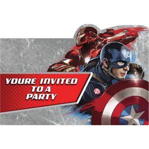 Captain America: Civil War Invitations 8ct