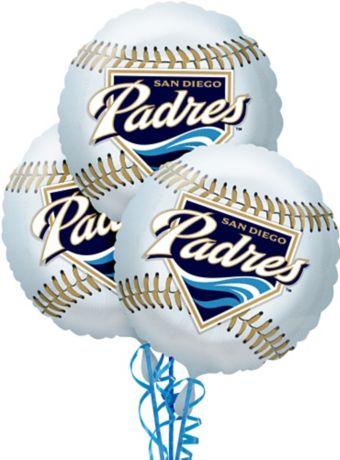 San Diego Padres Balloons 3ct - Baseball