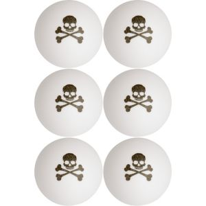 Skull & Crossbones Pong Balls 6ct