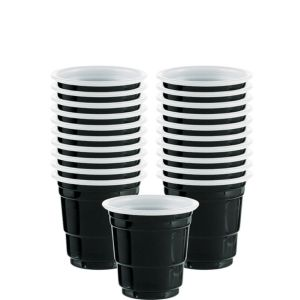 Black Plastic Cup Shot Glasses 30ct