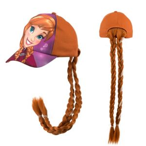 Child Anna Baseball Hat with Braids - Frozen