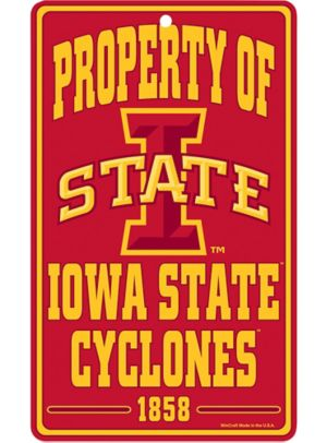 Property of Iowa State Cyclones Sign