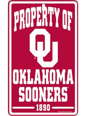 Property of Oklahoma Sooners Sign