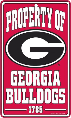 Property of Georgia Bulldogs Sign