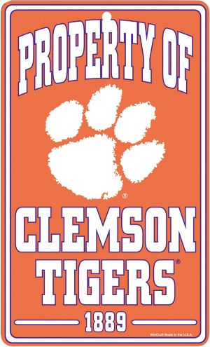 Property of Clemson Tigers Sign