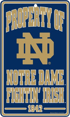 Property of Notre Dame Fighting Irish Sign