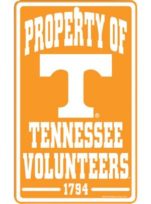 Property of Tennessee Volunteers Sign