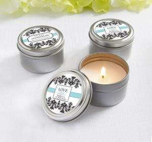 PERSONALIZED Wedding Candle Tins (Printed Label) (Always & Forever Happy Anniversary)