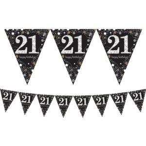 Prismatic 21st Birthday Pennant Banner - Sparkling Celebration