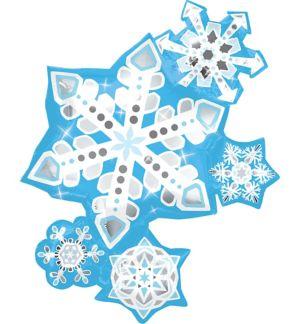Christmas Balloon - Giant Frosty Snowflakes