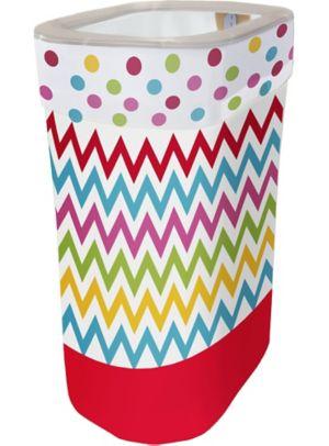 Bright Polka Dot & Chevron Pop-Up Trash Bin