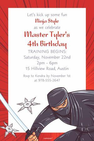 Custom Ninja Invitation