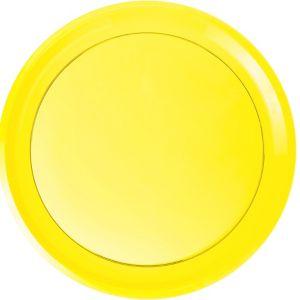 Yellow Plastic Swirl Platter