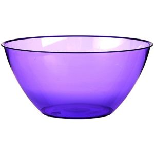 Large Purple Plastic Bowl