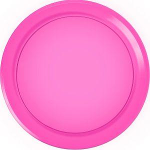 Bright Pink Plastic Round Platter