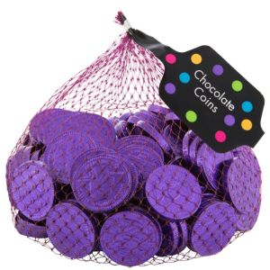 Small Purple Chocolate Coins 125pc