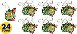 Michelangelo Keychains 24ct - Teenage Mutant Ninja Turtles